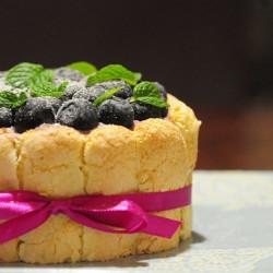 藍莓起士夏洛特蛋糕-6吋