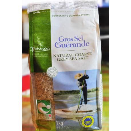 法國給宏德海鹽粗粒原裝一公斤袋裝Gros Sel de Guerande